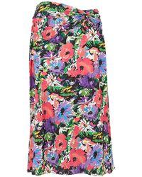Art Dealer 3/4 Length Skirt - Purple