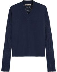 Christopher Kane - Stretch-knit And Lace Sweater - Lyst