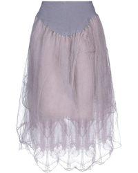 Marc Le Bihan Knee Length Skirt - Purple