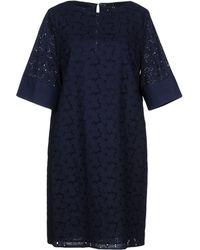 Blue Les Copains - Short Dresses - Lyst