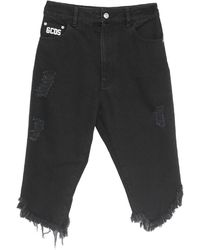 Gcds Denim Shorts - Black