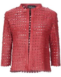 Caban Romantic Blazer - Red