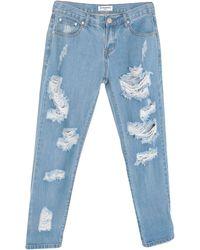 Glamorous Pantalon en jean - Bleu