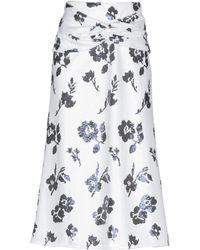 Self-Portrait Midi Skirt - White