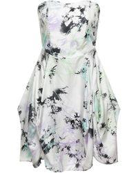 Full Circle Kurzes Kleid - Weiß