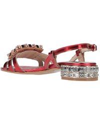 Manila Grace Sandals - Red