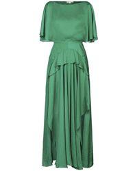 Maje Vestido largo - Verde