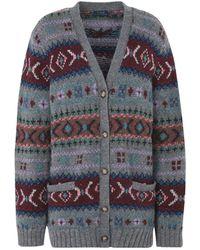 Polo Ralph Lauren - Fair Isle Wool Cardigan - Lyst