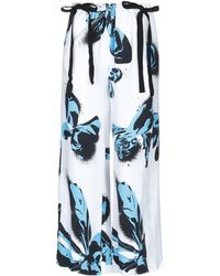 Cedric Charlier Casual Pants - White