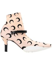 Marine Serre Ankle Boots - Pink