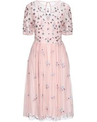 Vila - Short Dress - Lyst
