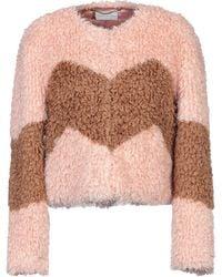 Patrizia Pepe Teddy Coat - Pink