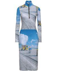 Natasha Zinko Midi Dress - Blue