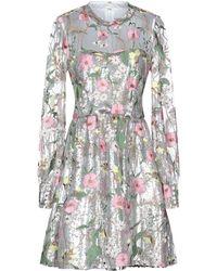 Piccione.piccione Short Dress - Gray