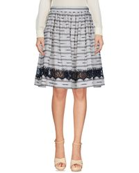 Alice + Olivia Knee Length Skirt - Grey