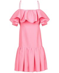 MSGM - Short Dress - Lyst