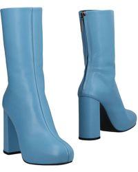 Lyst - Bottines Daevel en cuir Isabel Marant en coloris Bleu aeb36b78cfc