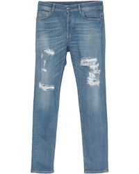 Marcelo Burlon Denim Trousers - Blue