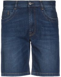 Bikkembergs Denim Shorts - Blue