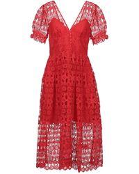 Self-Portrait Knee-length Dress - Red