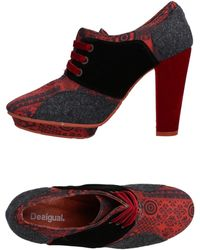 Desigual Lace-up Shoe - Red