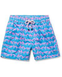 Pink House Mustique Swim Trunks - Blue