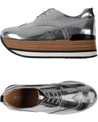 Hogan Zapatos de cordones - Metálico