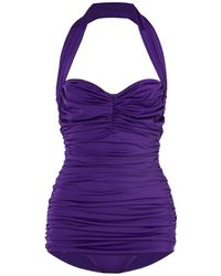 Norma Kamali One-piece Swimsuit - Purple