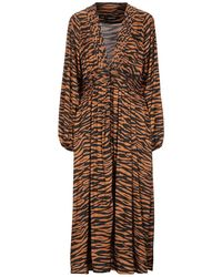 ANDAMANE 3/4 Length Dress - Brown