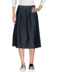 Scaglione - Denim Skirt - Lyst
