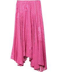 Balenciaga Falda a media pierna - Rosa