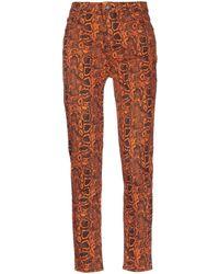 NA-KD Denim Trousers - Orange