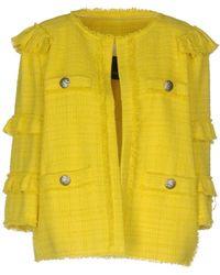 Pinko - Boucl Ruffle Tier Jacket - Lyst