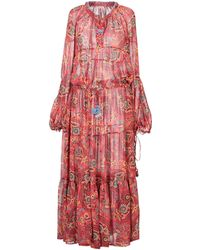 Anjuna Long Dress - Red