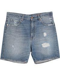 Pence Shorts jeans - Blu