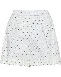 Jil Sander Navy Shorts - White