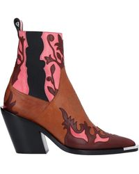 Paco Rabanne Ankle Boots - Red