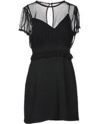 Twenty Easy By Kaos Short Dress - Black