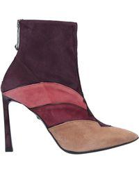 Just Cavalli Ankle Boots - Purple