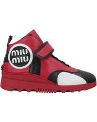 Miu Miu High-tops & Trainers - Red