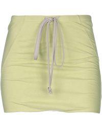 Rick Owens Mini Skirt - Green