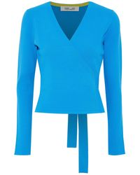 Diane von Furstenberg Wrap Cardigans - Blue