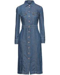 7 For All Mankind Midi Dress - Blue