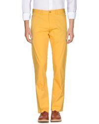 BOSS Green Casual Trouser - Yellow