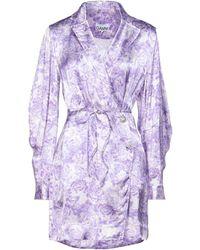 Ganni Kurzes Kleid - Lila