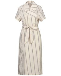 Barena 3/4 Length Dress - Natural