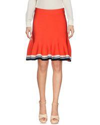 Victoria, Victoria Beckham Knee Length Skirt - Red
