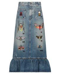Gucci - Jupe en jean - Lyst