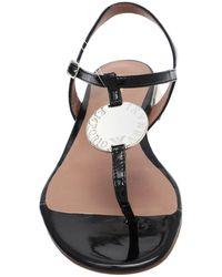 Emporio Armani Toe Strap Sandal - Black