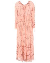 Ottod'Ame Langes Kleid - Pink